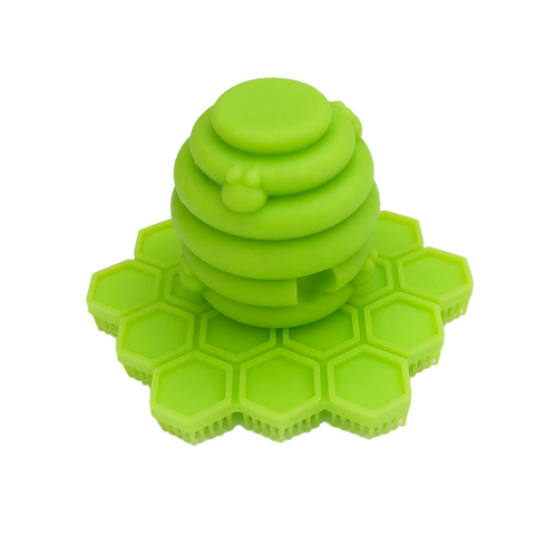 Big Bee Little Bee ScrubBEE Silicone Scrubber: Lime