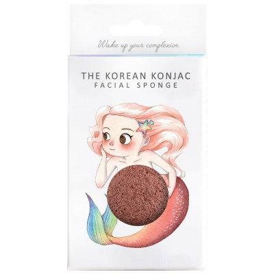 Konjac Mythical Mermaid Sponge Red Clay