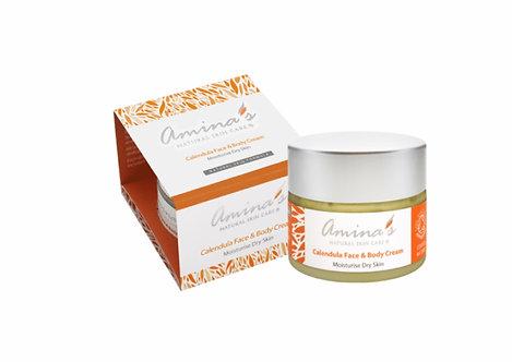 Amina's Natural Calendula Face & Body Cream 50ml