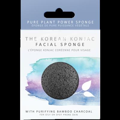 Konjac Facial Puff with Bamboo Charcoal