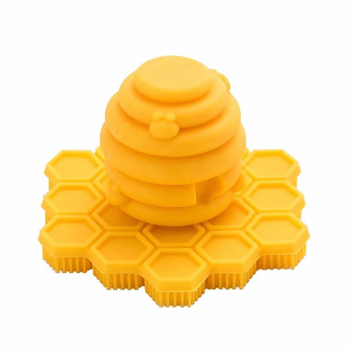 Big Bee Little Bee ScrubBEE Silicone Scrubber: Marigold