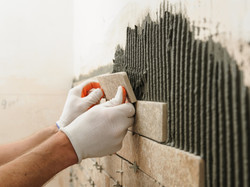 Tiling A Wall Tiling Project