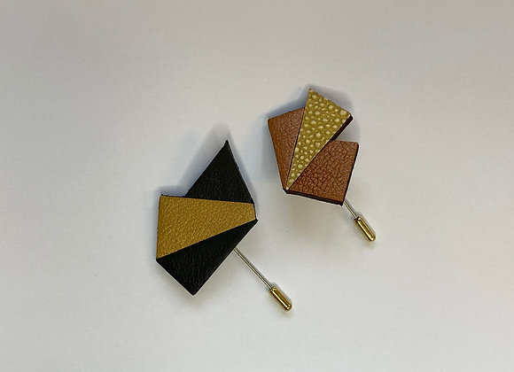 Upcycled Leather Brooch