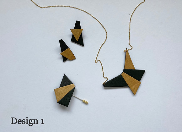 Sets of Upcycle Leather Jewelry
