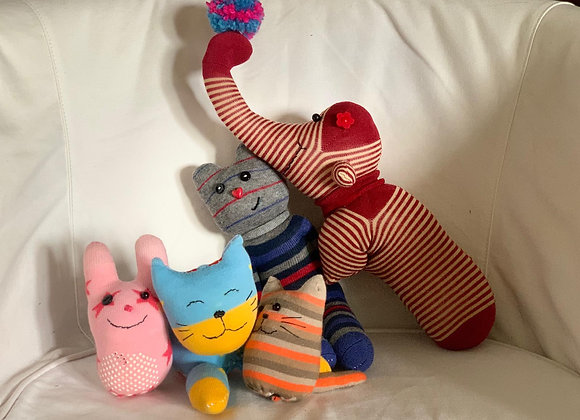 (S) Upcycled Sock Toys