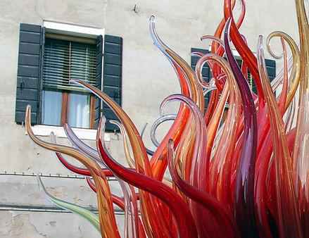Murano glass (closeup detail of street m