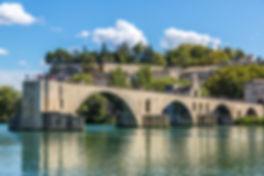 Saint Benezet bridge in Avignon in a bea