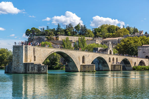 Saint Benezet bridge in Avignon in a bea