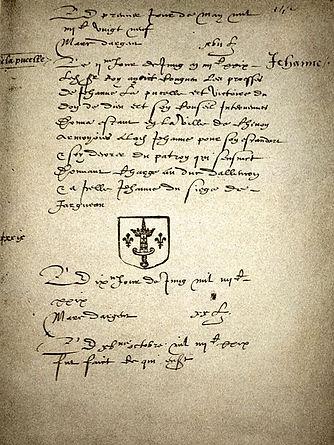 1429_Charles_VII_Annoblisant_Jeanne_Darc