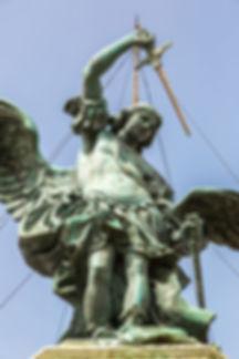 Statue of Saint Michael at the top of Sa