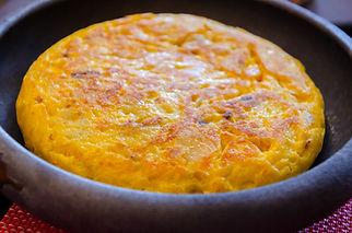 Tortilla de patata. detail on an spanish