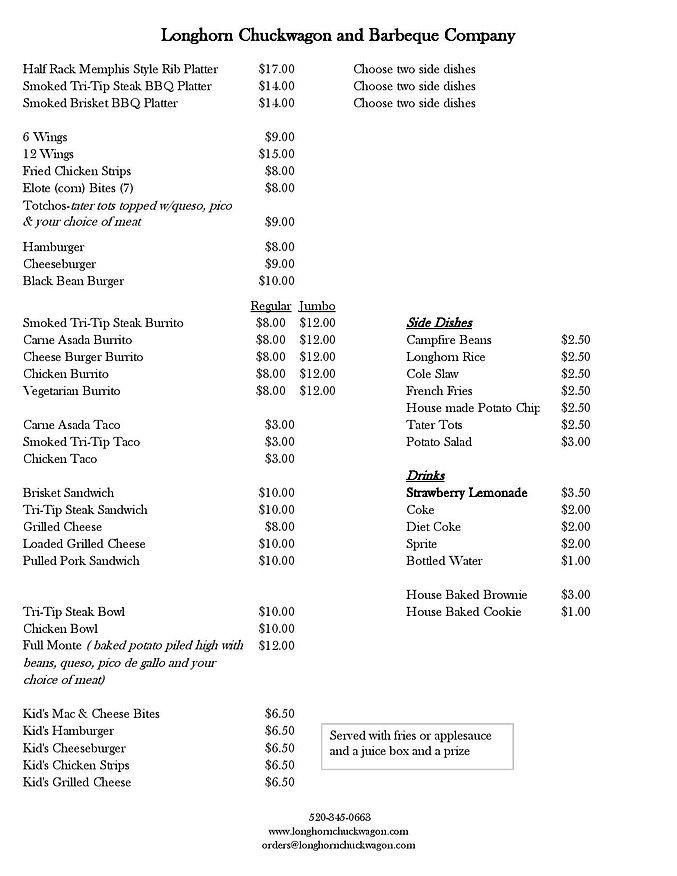 21-02-15 menu Longhorn Chuckwagon and Ba