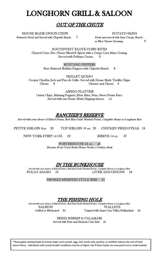 LONGHORN DINNER MENU June 2021 adjusted