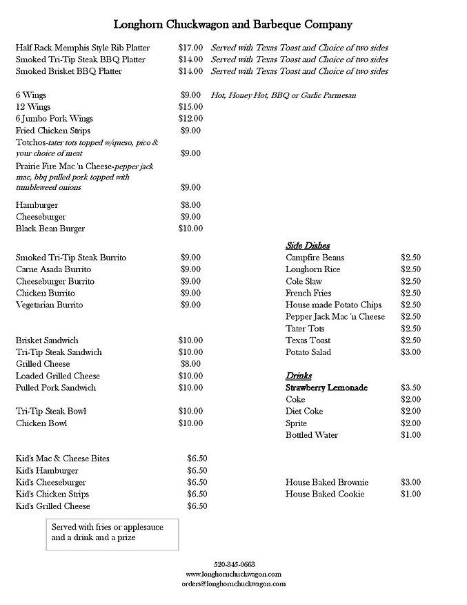 21-05-23 menu Longhorn Chuckwagon and Ba