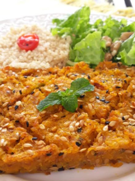 Kibe Vegano de Abóbora com Quinoa - Tamanho P