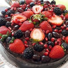 Chocolate com frutas vermelhas