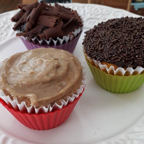 Muffin com açúcar demerara e mascavo