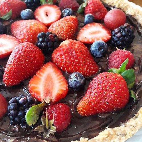 Torta Chocolate com Frutas Vermelhas