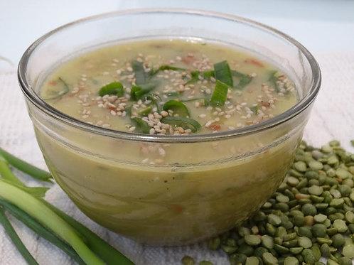 Sopa Ervilha com Hortelã