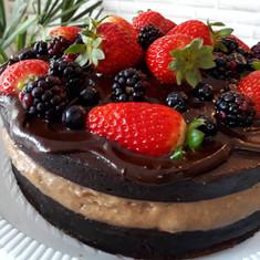 Especial: Chocolate com doce de leite + adicional de frutas para decoração