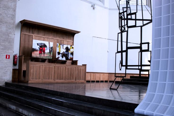 Voicing Entebbe, Installation View, De Kerk, Museum Arnhem, 2019