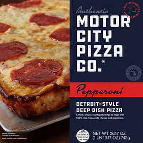 Motor City Pizza Co. | Pepperoni Box Front