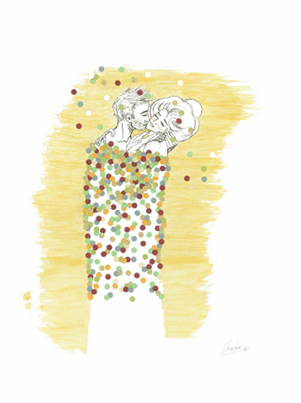 Le Baiser - Hommage à Klimt