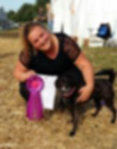 Janneke(eigenaresse) met hond Lily