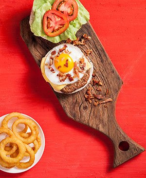 Cheese Salada Egg Bacon