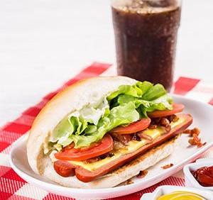 Cheese Hot Dog Salada Bacon