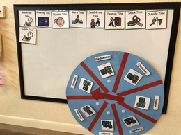 Highscope calendar wheel and daily schedule