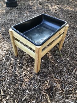 Outdoor sensory bin