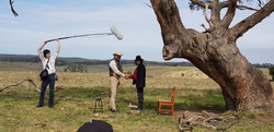 BTS still from The Ballad of Friendship