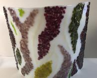 Lampshade White/plum design