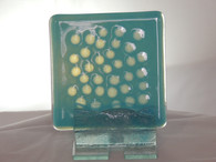 2x turquoise small dots coasters.JPG