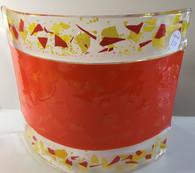 Pair Lampshades - orange confetti