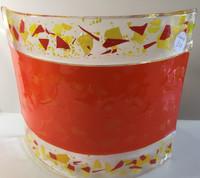 Pair orange confetti wall lampshade