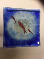 Medium square fish dish
