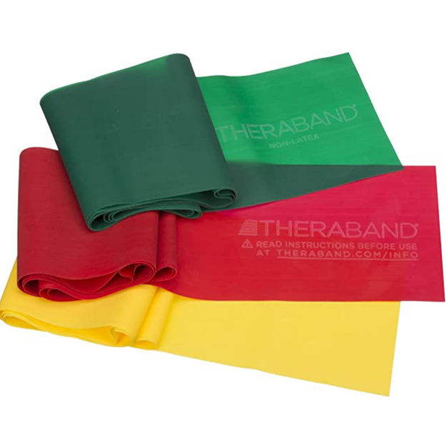 Therabands, set of 3
