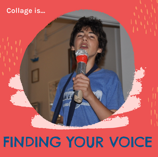 Collage is...finding your voice