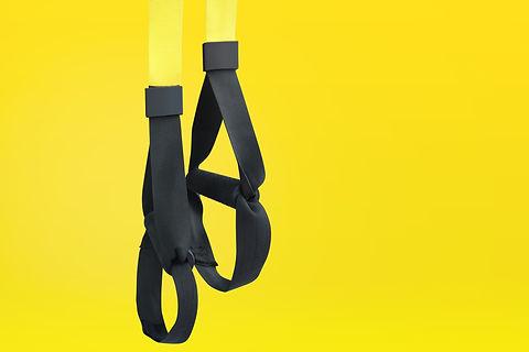 Training strap equipment. Black strap fu