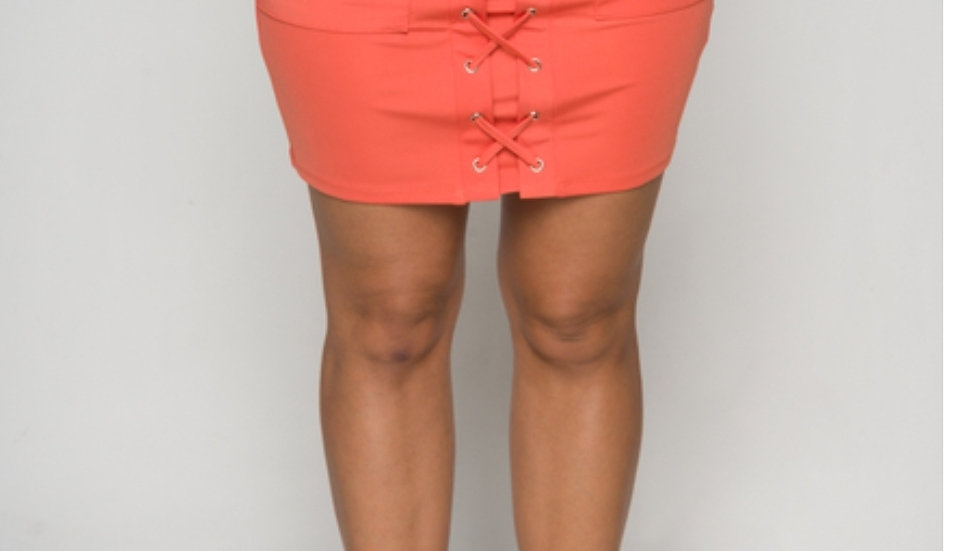 Midi Orange Rose Skirt