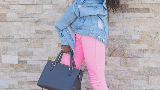 Baby Pink High Waist Jeans