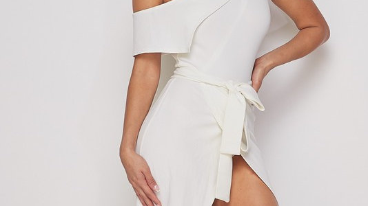Solid One Shoulder Dress