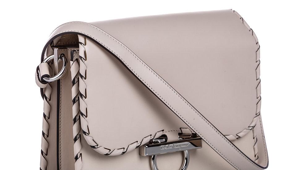 Ferragamo Flap Leather Crossbody Bag