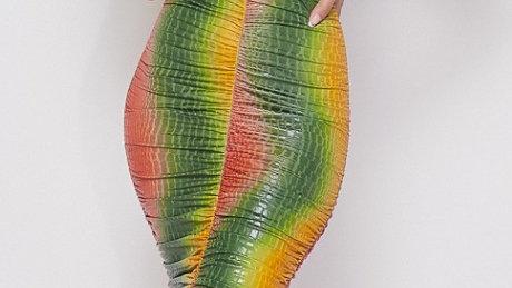 Tropical Snakeskin Dress