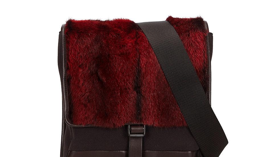 PRADA Fur Crossbody Bag