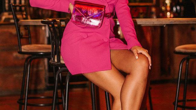 Hot Pink Blazer Dress