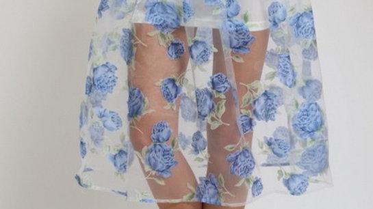 Transparent floral shirt