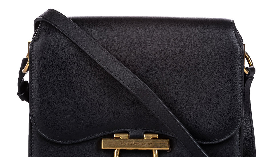 Ferragamo Gancini Leather Crossbody Bag